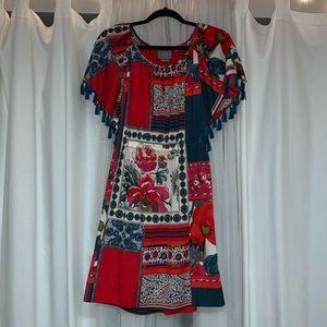 Vanessa Virginia Tassel Off The Shoulder Dress